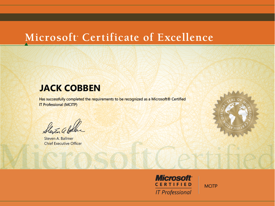 Microsoft certificates jacks server blog microsoft certificates here you can view my certificates 1betcityfo Gallery